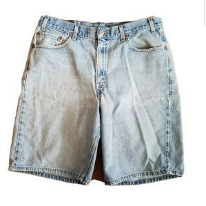 Levis 505 Relaxed Fit Jean Shorts Size 36 Men BA